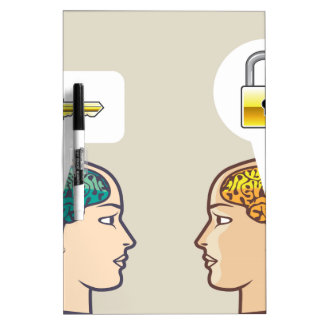 Brains Lock and Key Dry-Erase Board