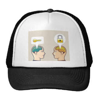 Brains Lock and Key Trucker Hat