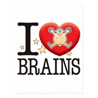 Brains Love Man Postcard
