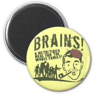 Brains! 2 Inch Round Magnet