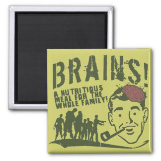 Brains! 2 Inch Square Magnet