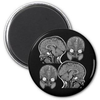 BRAINS! (MRI) 2 INCH ROUND MAGNET