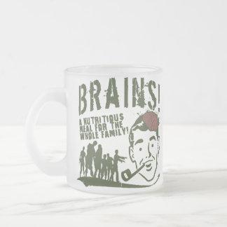 Brains! 10 Oz Frosted Glass Coffee Mug