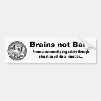 Brains not Bans (white) Bumper Sticker
