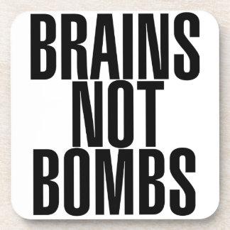 Brains not Bombs Beverage Coaster