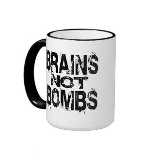 Brains Not Bombs Mugs