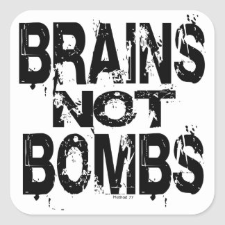 Brains Not Bombs Stickers