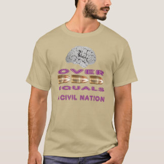 Brains over bullets. T-Shirt