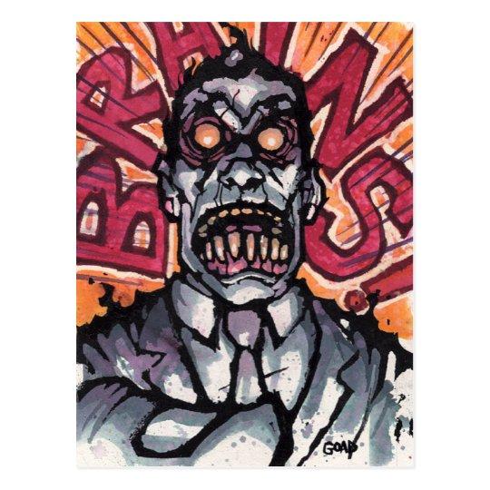 Brains! postcard - Goad