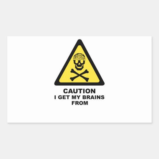 brains rectangular sticker