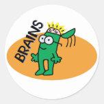Brains Round Sticker