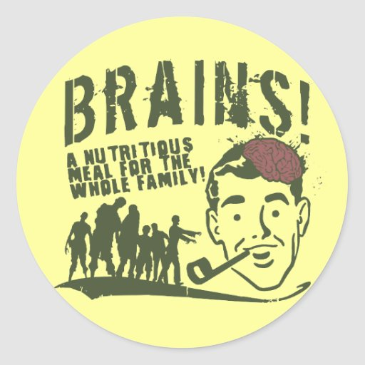 Brains! Stickers