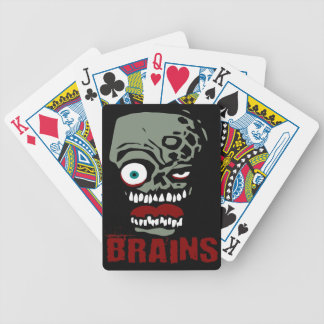 Brains zombie bicycle playing cards