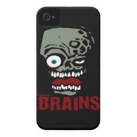 Brains zombie Case-Mate iPhone 4 case