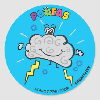 Brainstorm Norm Sticker (pack of 6)
