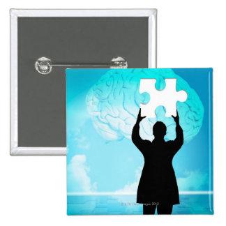 Brainstorming concept pinback button