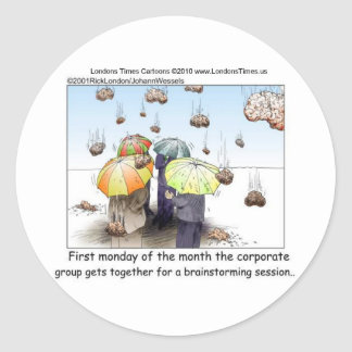 Brainstorming Session Funny Tees Mugs Cards Gifts Classic Round Sticker