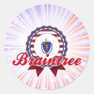 Braintree, MA Classic Round Sticker