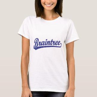 Braintree script logo in blue T-Shirt