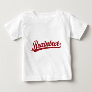 Braintree script logo in red baby T-Shirt