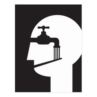 brainwashed talker postcard
