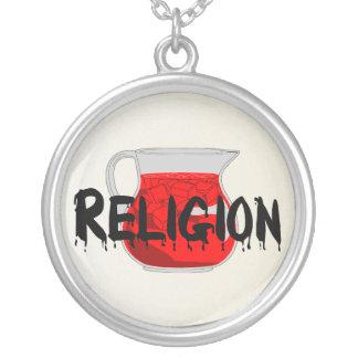 Brainwashing Drink Round Pendant Necklace