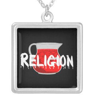 Brainwashing Drink Square Pendant Necklace