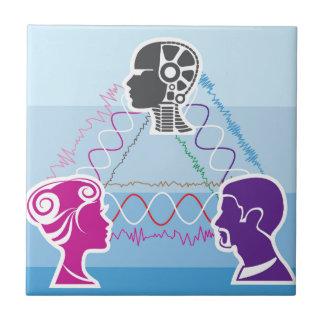 Brainwave connection ceramic tile