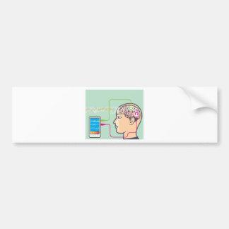 Brainwave Monitoring Bumper Sticker