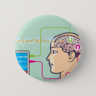 Brainwave Monitoring Pinback Button