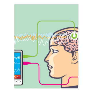 Brainwave Monitoring Postcard