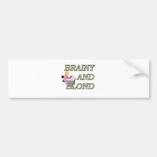 BRAINY AND BLOND SECRETARY BUMPER STICKER