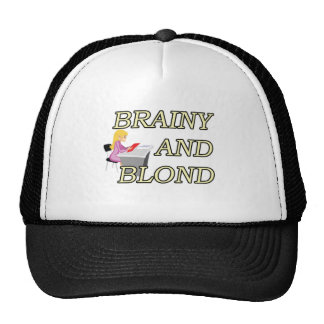 BRAINY AND BLOND SECRETARY TRUCKER HAT