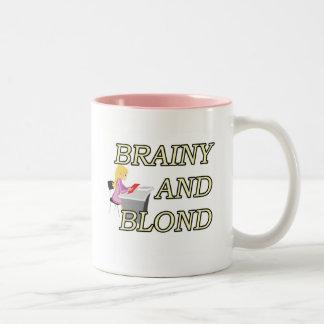 BRAINY AND BLOND SECRETARY Two-Tone COFFEE MUG