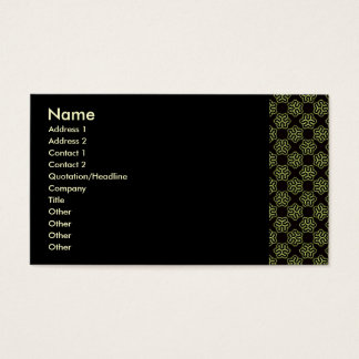 Brainy bacteria pattern business card