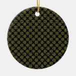 Brainy bacteria pattern christmas ornament