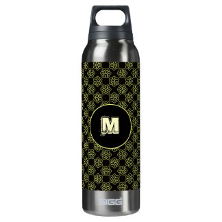 Brainy bacteria pattern insulated water bottle