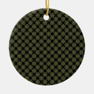 Brainy bacteria pattern christmas ornament