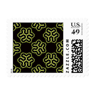 Brainy bacteria pattern postage