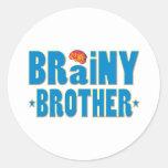 Brainy Brother Round Sticker