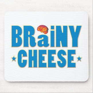 Brainy Cheese Mouse Pad