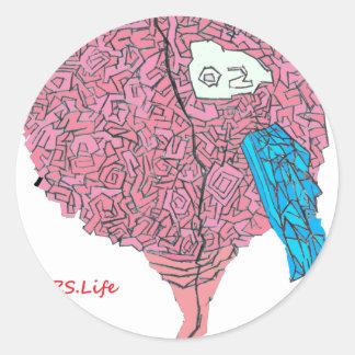 Brainy Classic Round Sticker