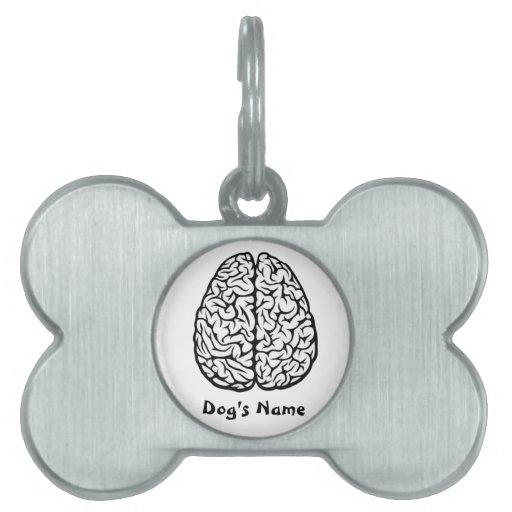 Brainy Dog Tag Pet Name Tags