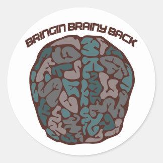 Brainy Geek Classic Round Sticker