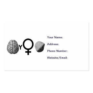 Brainy Girls Rock! Double-Sided Standard Business Cards (Pack Of 100)