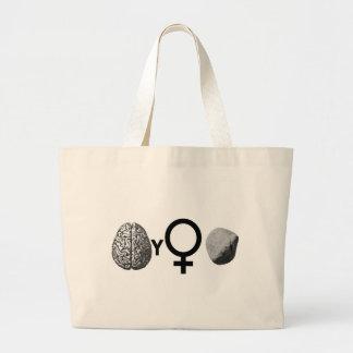 Brainy Girls Rock! Large Tote Bag