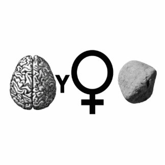 Brainy Girls Rock! Standing Photo Sculpture