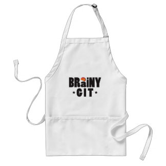 Brainy Git K Adult Apron