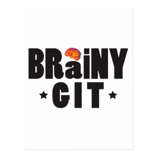 Brainy Git K Postcard