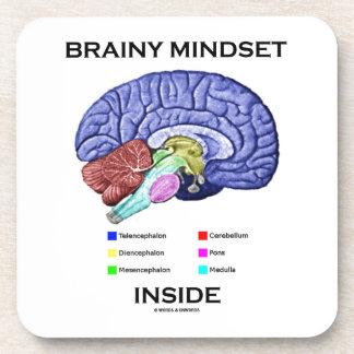 Brainy Mindset Inside (Anatomical Brain) Beverage Coaster